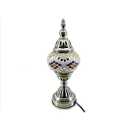 XFF Lámpara De Mesa De Mosaico Turco Marroquí Lámpara De ...