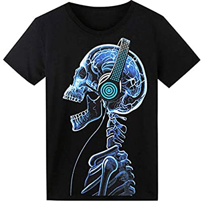 LED T Shirt Sound Activated Funny Shirts Light Up Equalizer Animation Clothes Fancy Dress for Party Hiphop Halloween Concert Cosplay Birthday Gift, Bonus Glow Bracelet
