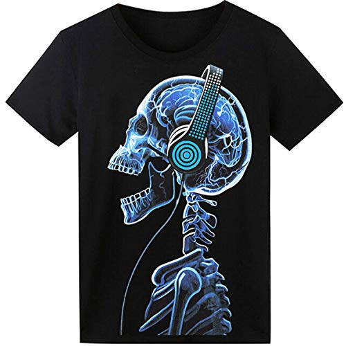 LED T Shirt Sound Activated Glow Shirts Light up Equalizer Clothes for -