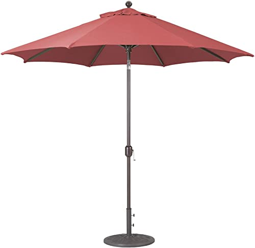 Galtech 9-Ft Model 737 Deluxe Auto-Tilt Umbrella w/Henna Sunbrella Fabric Antique Bronze Frame