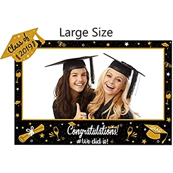 LUOEM 2019 Graduation Inflatable Picture Frame Blow Up Photo Booth Props Graduation Decoration Accessory for Graduation Party 72 x 61cm