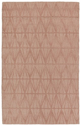 Rivet Sunset Textured Geo Pattern Wool Area Rug, 8' x 10', Pink by Rivet (Image #6)