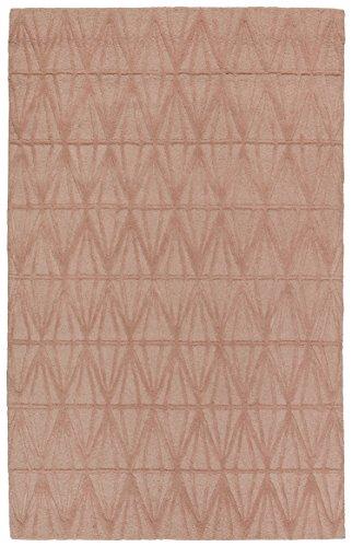 Rivet Sunset Textured Geo Pattern Wool Area Rug, 8' x 10', Pink by Rivet