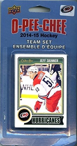 Carolina Hurricanes 2014 2015 O Pee Chee NHL Hockey Brand New Factory Sealed 16 Card Licensed Team Set Made By Upper Deck Including Cam Ward, Jordan Staal, Jeff Skinner and More