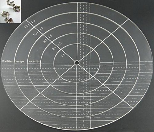 Sew-Link 3mm Acrylic Patchwork Quilting Template Ruler Nesting Ring for Domestic (Household) Sewing Machines by SEW-LINK