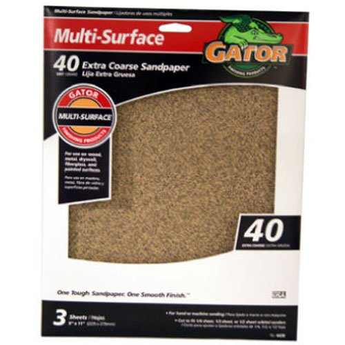 ALI INDUSTRIES 4439 40 25 CT Grit Sandpaper, 9-Inch x 11-Inch