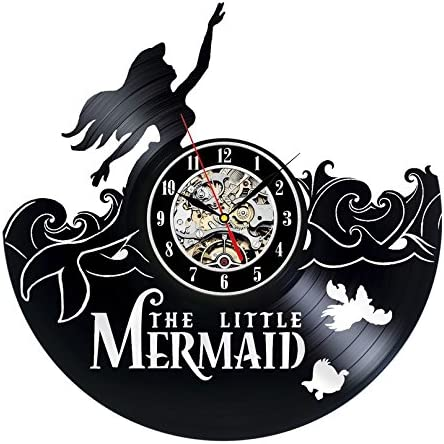 Gullei.com Mermaid Creative Design Vinyl Wall Clock