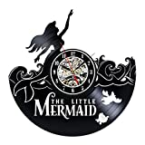 Mermaid Creative Design Vinyl Wall Clock For Sale