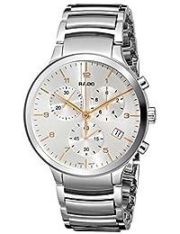 Rado Men's R30122113 Centrix XL Chronograph Analog Display Swiss Quartz Silver Watch by Rado