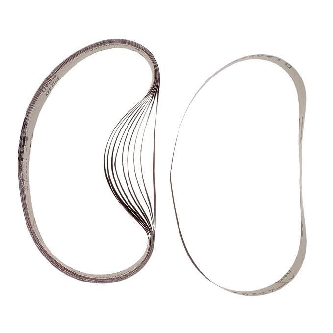 100 Grit Oxid Schleifb/änder Schleifband Bandschleifer 25x762mm 10Stk