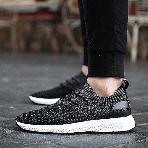 Des chaussures de course pour hommes chaussures de sport respirant Mesh augmentant la hauteur Hommes Sneakers homme noir Chaussures confort lumière Sports Black