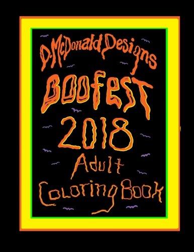 D.McDonald Designs Boofest 2018 Adult Coloring Book