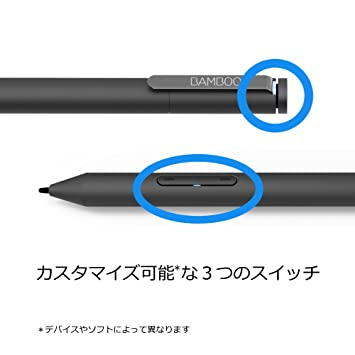 Wacom Bamboo Ink Smart Stylus Black Active Touch Pen Stylus for Windows 10  Touchscreen Input Devices Surface Pro - CS321AK