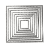 DIY Metal Scrapbook Cutting Dies - Embossing Stencil and Template for Kid's Creative Arts Crafts Supplies, Card Supplies, Wedding and Party Decorations (Square Frame)