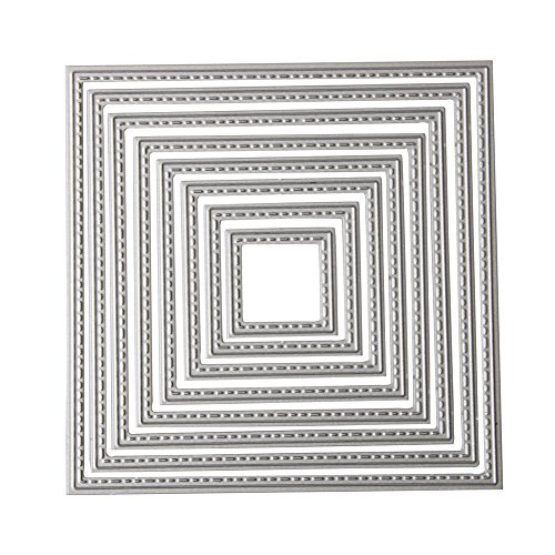 DIY Metal Scrapbook Cutting Dies - Embossing Stencil and Template for Kids Creative Arts Crafts Supplies, Card Supplies, Wedding and Party Decorations (Square Frame)