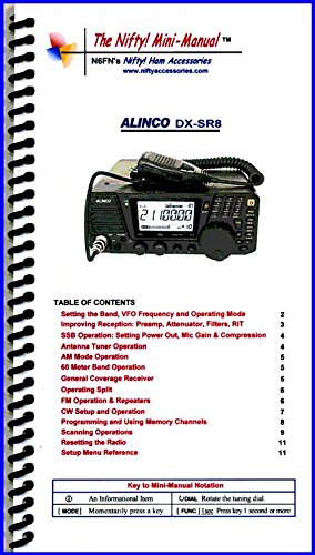 Transceiver Manual - Alinco DX-SR8 T/E Mini-Manual by Nifty Accessories