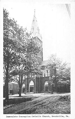 Brookville Pennsylvania Immaculate Conception Catholic Church vintage pc Z49157 ()
