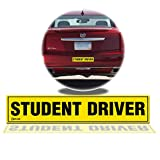 Zento Deals Magnetic 'Student Driver' Bumper Sticker 12 X 3 X 0.1 Inches