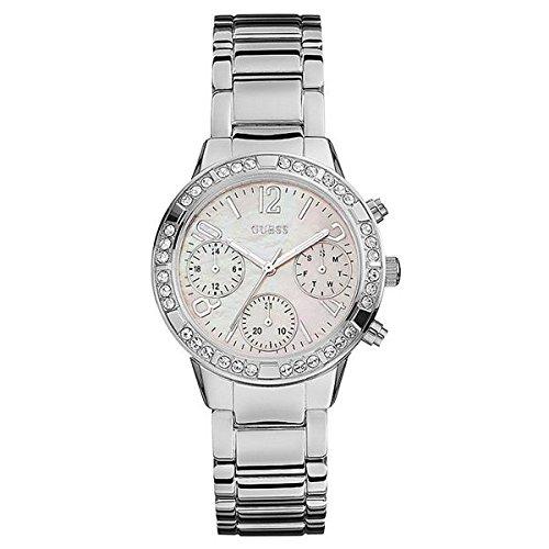 Guess Reloj Analogico para Mujer de Cuarzo con Correa en Acero Inoxidable W0546L1: Amazon.es: Relojes