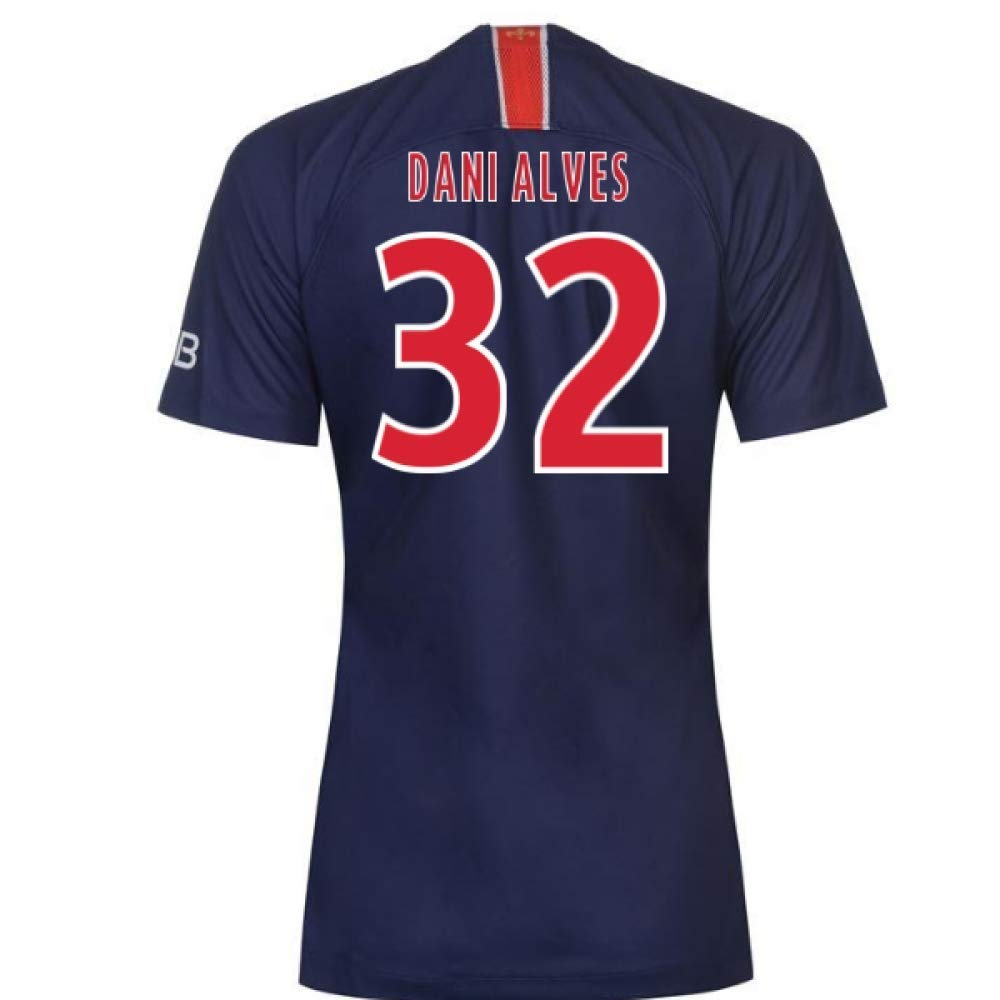 2018-2019 PSG Home Nike Damenschuhe Football Soccer T-Shirt Trikot (Dani Alves 32)