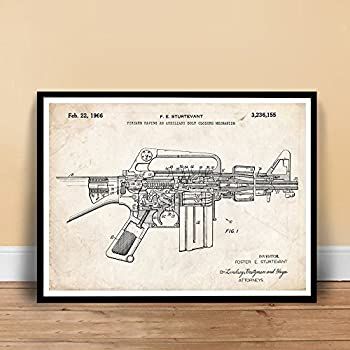 Amazon     AR      15       DIAGRAM    GLOSSY POSTER PICTURE PHOTO shoot guns rifles weapons military  Office