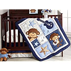 Carter's Monkey Collection 4 Piece Crib Set for boys