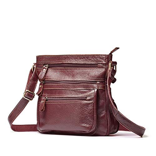 Bags Women's Small Lecxci Handbags for Zipper Crossbody Wine body Women Leather Travel 1 Cross Purses Vintage vCH1pnH