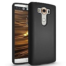 """LG V10 Case, Landee Shock Absorbing Rubber Plastic Scratch Resistant Defender Bumper Rugged Grip Hard Cover Case For LG V10 (5.7"""")(Black)"""