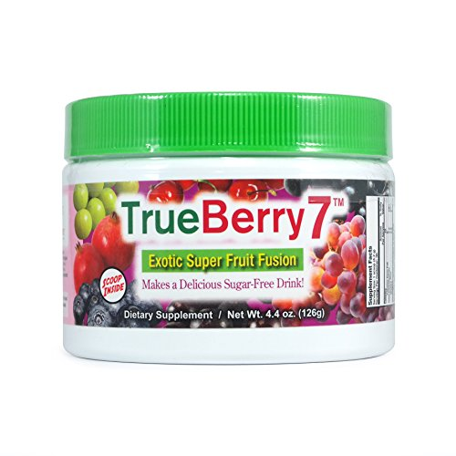 TrueBerry7 Sugar Free Drink Mix – Contains 7 Super Fruits...