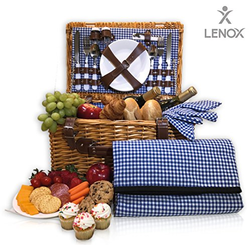Picnic Basket Set Waterproof Flatware