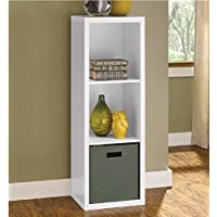 Decorative Storage 43 Cube Unit Bookcase, White