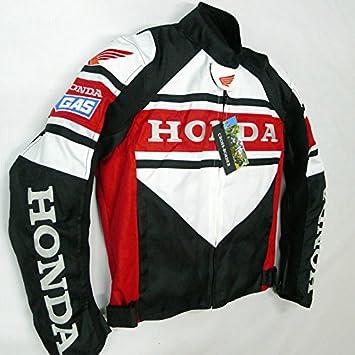 Honda para Hombre Chaqueta De Moto Impermeable Resistente al Viento with5 pantalla desmontable algodón maletero XL Euro tamaño 52: Amazon.es: Coche y moto