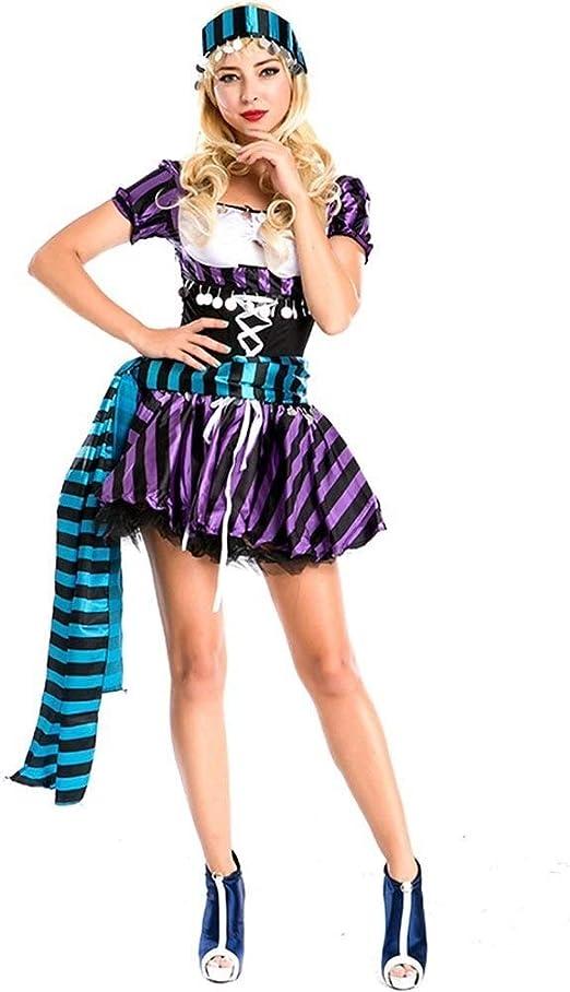Cicongzai De Halloween Vestidos de Mujer Pirata del Pirata Traje ...