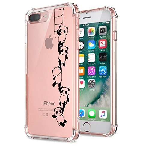 Price comparison product image Beryerbi iPhone 7 Plus Case Ultra Slim Clear Soft TPU Air Cushion Technology Cover for Apple 7 Plus (7, iPhone 7 Plus)