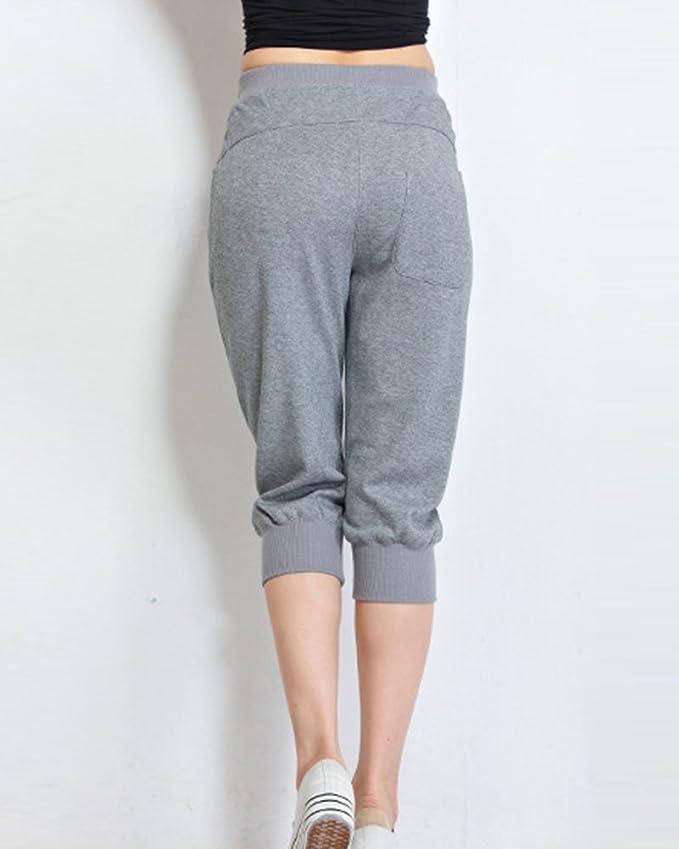 Mujer Anchos Casuales Sport Jogging Yoga Deportes Pantalones Cortos Capri  Pantalon Harem Tallas Grandes Gris 3XL  Amazon.es  Deportes y aire libre 577d57303dba