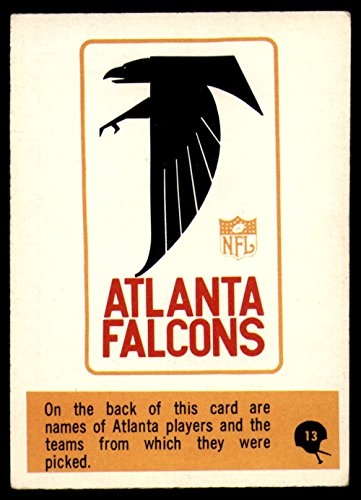 Football Nfl 1966 Philadelphia  13 Falcons Roster Excellent Falcons
