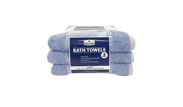 Miembros de la marca comercial toallas de baño, color azul (Juego de 6): Amazon.es: Hogar