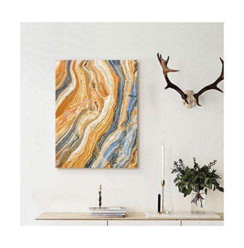 Liguo88 Custom canvas Marble Colorful Rock Quartz Surface Ba