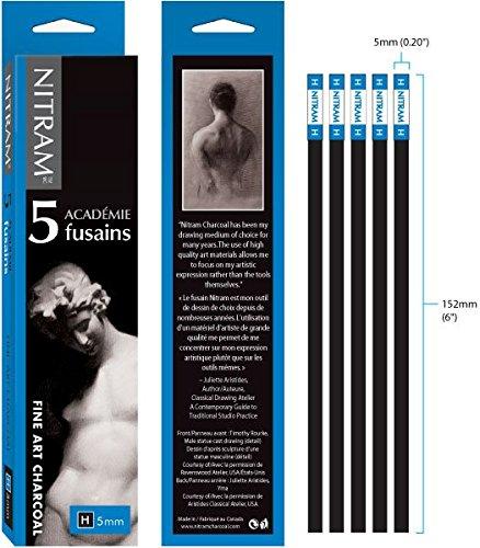 nitram-academie-charcoal-h-hard-5-sticks
