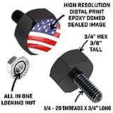 Tricktoppers Hex Head Vivid Black Billet Aluminum
