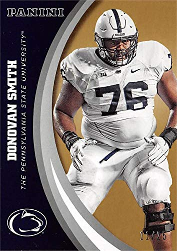 Donovan Smith football card (Penn State Nittany Lions) 2016 Panini Team Collection #21 Gold Edition LE ()