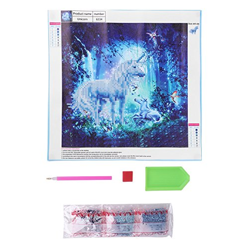 Rhinestone Embroidery Painting DIY Handmade Cross Stitch Kit Craft Home Wall Decor The Horse with an Antennal 11.8 × 11.8 inch