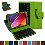 """Asus ZenPad S 8.0 Z580C Micro USB Keyboard Case,Mama Mouth Rotary Stand PU Leather Case Cover With Removable Micro USB Keyboard for 8"""" Asus ZenPad S 8.0 Z580C Z580CA Android Tablet,Green"""