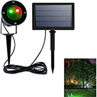 Solar Colorful Rotating LED Projection Light Window Projector,Outdoor Waterproof Christmas Projection Lamp,Party Yard Garden Decorations