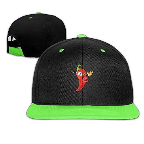 Qiop Nee Toddler Hip Hop Baseball Cap and Hat Boys' Girl Chili Pepper Breathing Fire Hot