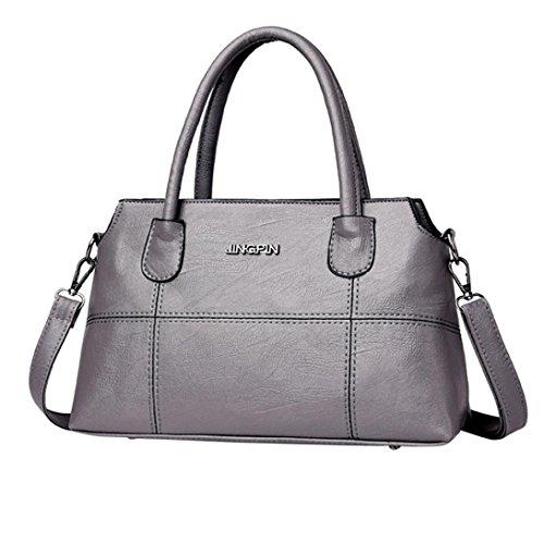 HENPI bandoulière carré sac sac Softback Shell bandoulière tout main fourre Vintage Patchwork Gris cuir Splice sac Mode à femmes à sac AwpArqz