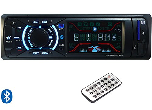 P3 Single DIN Bluetooth Echo Dot compatible Car stereo player with Detachable faceplate (G3882X) ()