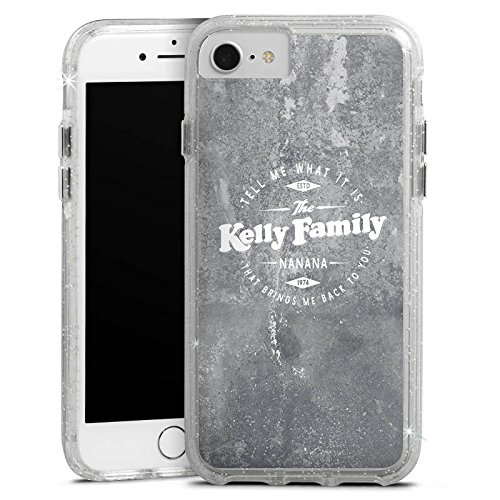 Apple iPhone 8 Bumper Hülle Bumper Case Glitzer Hülle The Kelly Family Merchandise Nanana