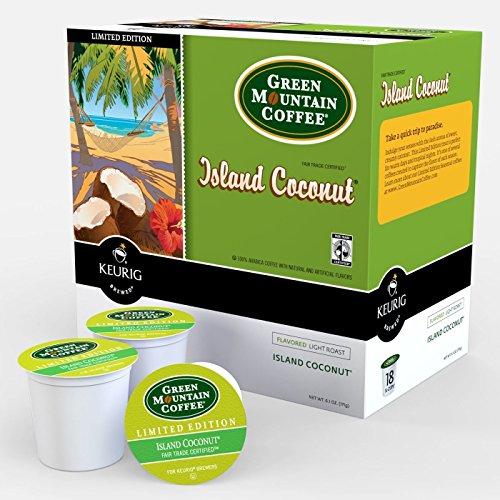 Keurig, Green Mountain, Island Coconut, K-Cup packs, (Green Mountain Coconut)