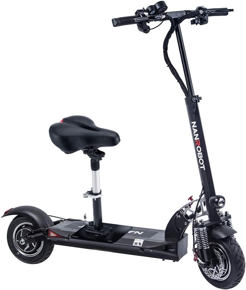 XINAO NANROBOT D5 High Speed Electric Scooter -Portable Folding, 40 MPH and 50Miles Range of Riding, 2000W Motor Power and 330lb Load